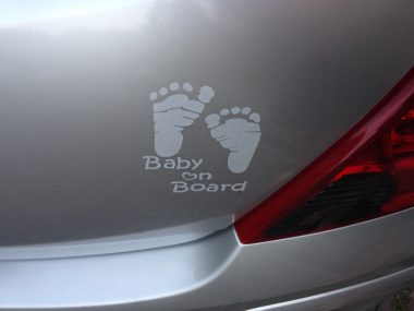 Autosticker Baby Voetjes