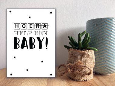 Kaart Help een baby - Wit