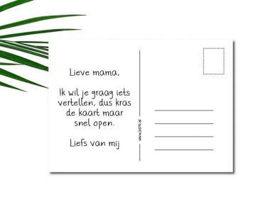 Kraskaart Je wordt oma