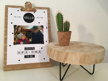 Poster: Hallo liefste opa en oma to be