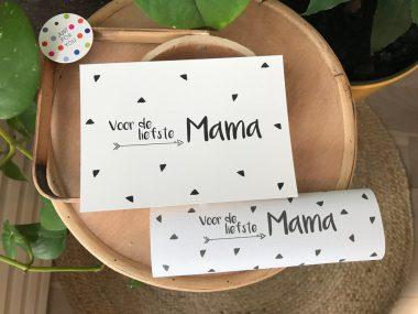 Chocoladereep Mama met kaart