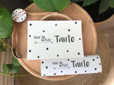 Chocoladereep Tante met kaart