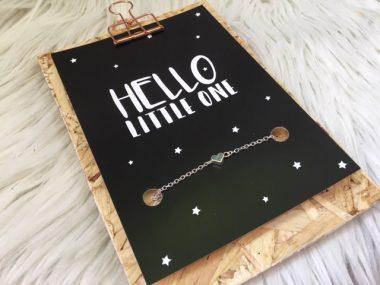 Sieradenkaart Hello little one